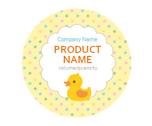 Baby Ducky Adhesive Labels