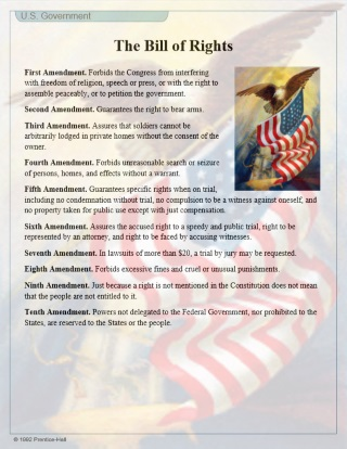 Bill of Rights and Amendments Study Guide