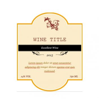 Red and Tan Wine Labels