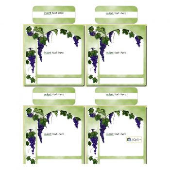 Grapes on Green Wine Labels