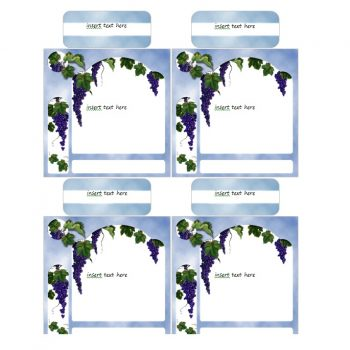Grapes on Blue Wine Labels