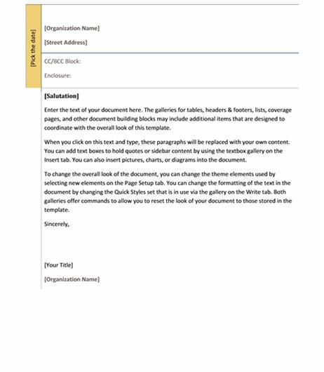 Academic Design Letter