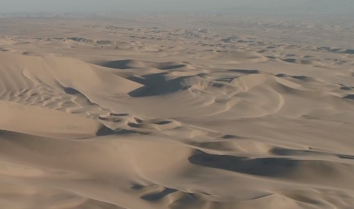 Aerial Golden Dunes Virtual Background