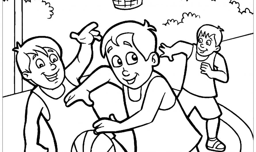 Basketball Coloring Booklet