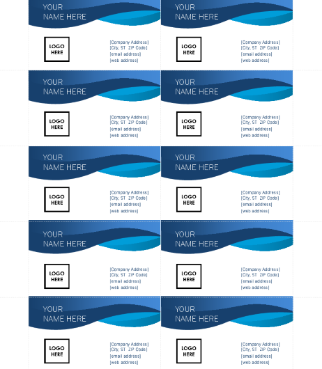 Blue Curve Business Card