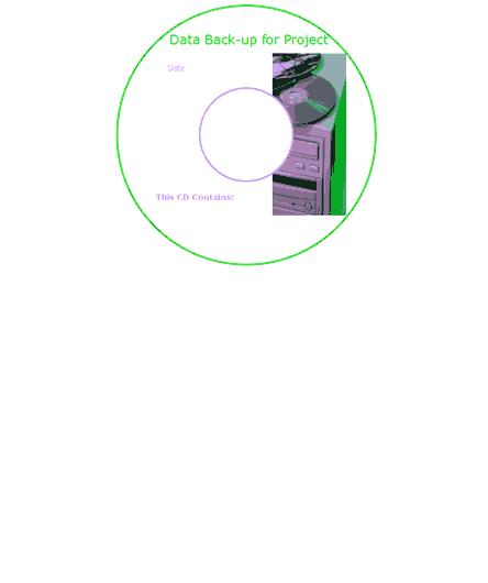 Data Backup CD-DVD Label