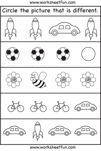 Find The Difference Worksheet