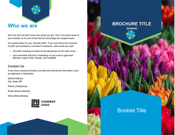 Floral Booklet Brochure