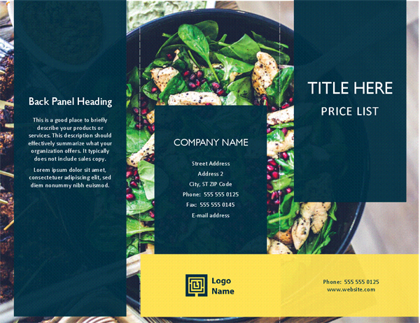 Green Salad Food Brochure