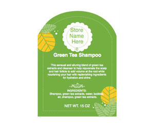 Green Florals Adhesive Labels