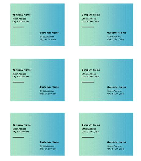 Green Gradient Labels
