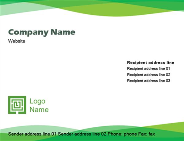 Green Wave Envelope