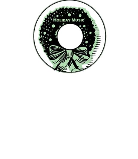 Holiday Music CD-DVD Label