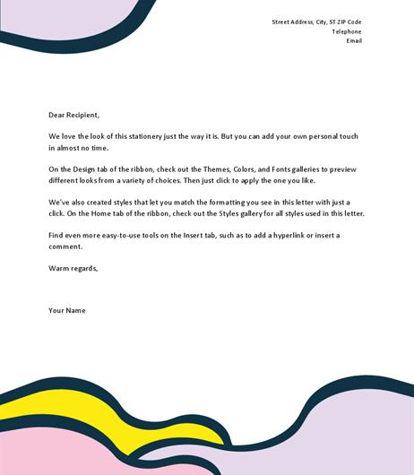 Organic Shapes Letter