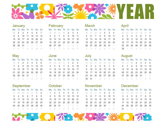 Playful Calendar