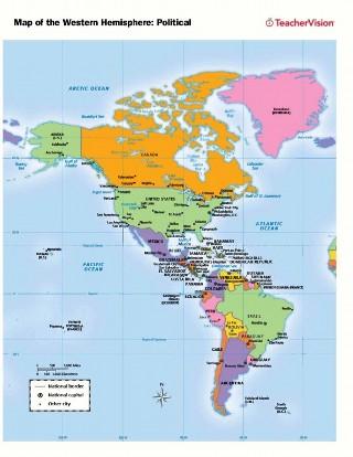 Political Map Worksheet