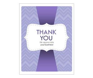 Purple Zig Zags Thank You Card