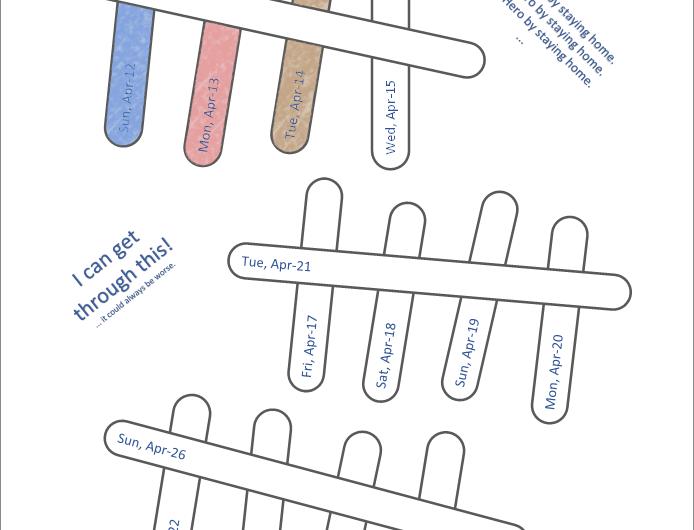Quarantine Calendar Template
