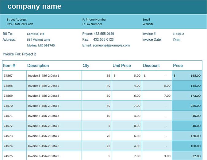 Sales Tracker Invoice