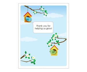 Spring Birds Thank You Card