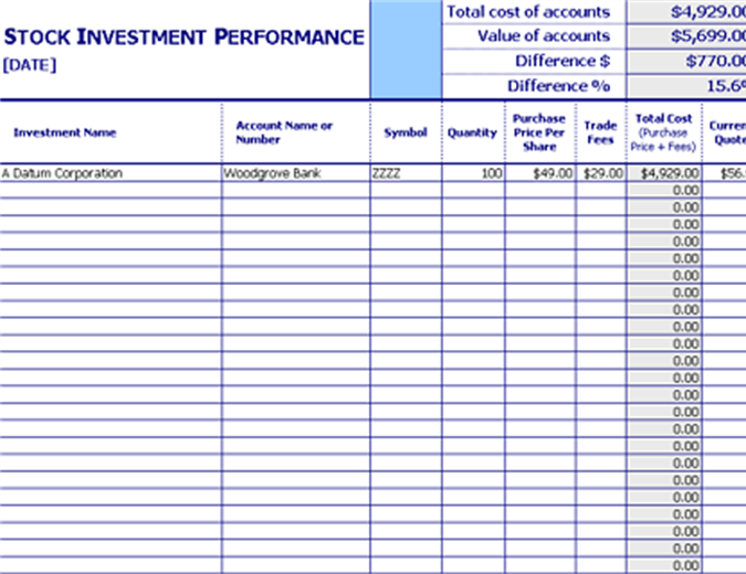 Stock Investment Tracker