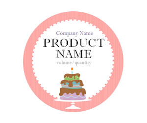 Tiered Cake Adhesive Labels
