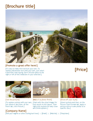 Travel Beach Brochure