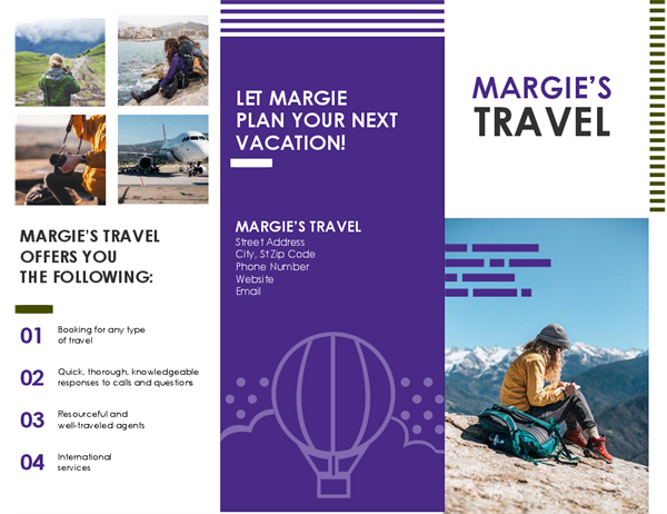 Travel Hiking Brochure