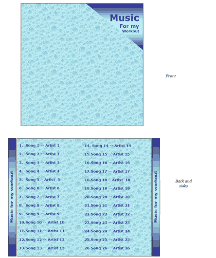 Water Design CD-DVD Case