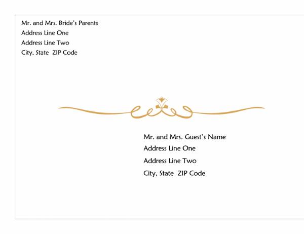 Wedding Invitation Envelope