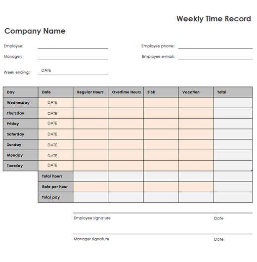 Weekly Timesheet Version 2