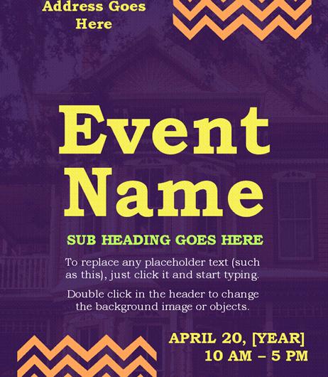 Zig Zag Event Flyer
